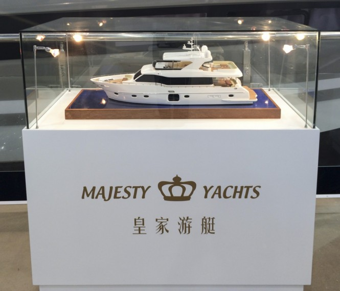 Gulf 75 Exp Yacht scale model on display at the event