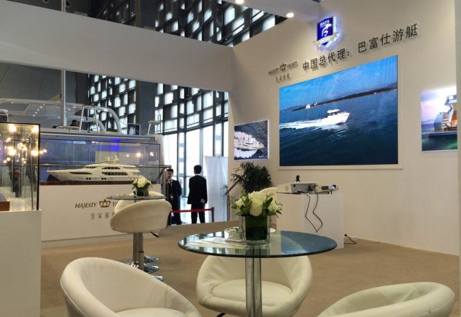 Gulf Craft stand at the 2014 China (Shanghai) International Boat Show