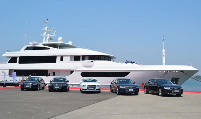 Horizon P148 superyacht Horizon Polaris and Audi