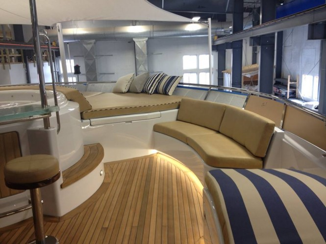 Luxury yacht Magic - Sundeck - Image credit to Front Street Shipyard