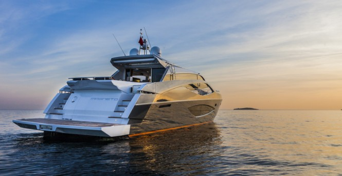 Luxury yacht Magneto - aft view