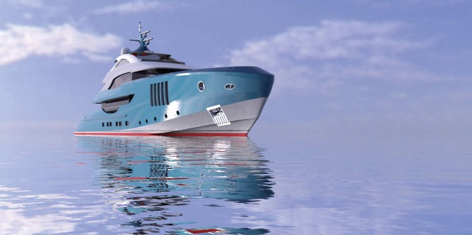 Luxury yacht Squalo Bianco - front view