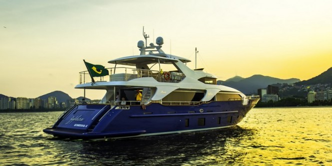 Luxury yacht ZAPHIRA - aft view - Image credit to Alberto de Abreu Sodre
