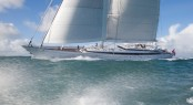 M5 sailing yacht - Sail trials Pendennis - Andrew Wright photography