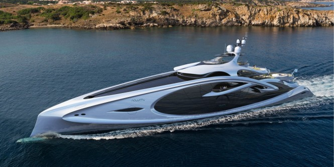 New 90m superyacht NOUVEAU concept by Andy Waugh