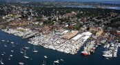 Newport International Boat Show from above