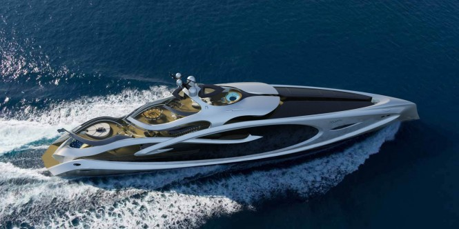 Nouveau Yacht Concept from above