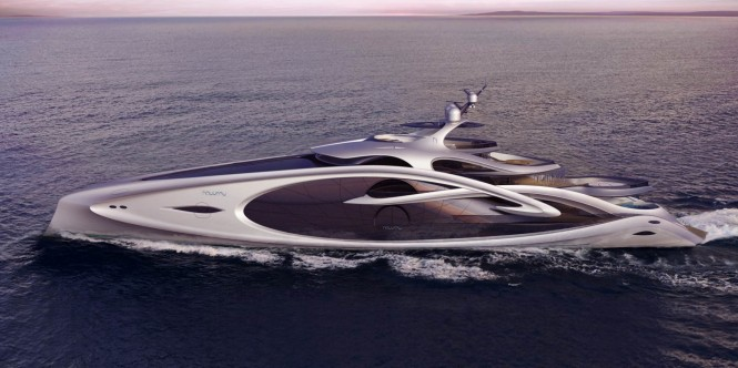 Nouveau superyacht concept - side view