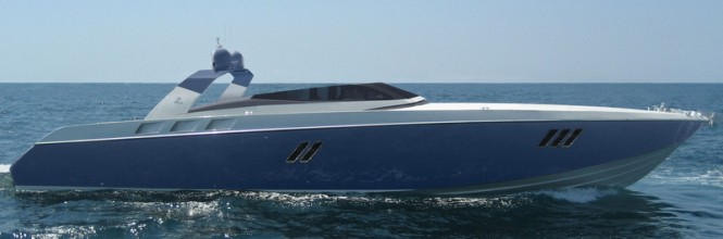 OTAM 80 Millennium OPEN Yacht in blue
