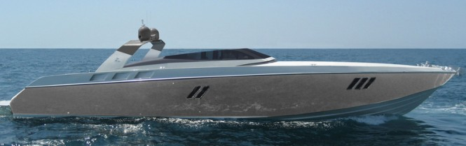 OTAM 80 Millennium OPEN Yacht in gold grey