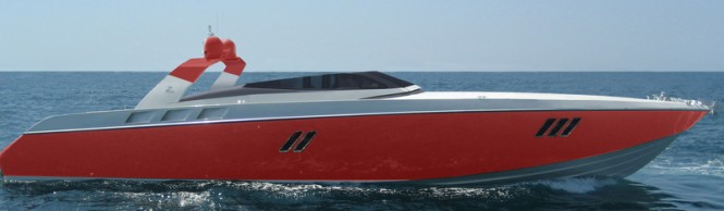 OTAM 80 Millennium OPEN Yacht in red