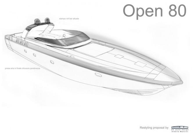 OTAM 80 Millennium OPEN superyacht - front view