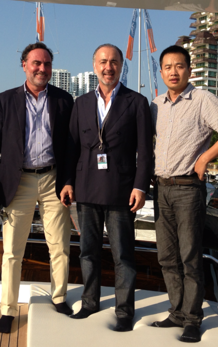 From left: Roberto ZAMBRINI, Alessandro FALCIAI, Guangfu ZHANG.
