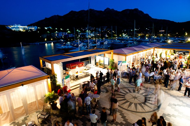 Porto Cervo's famed Piazza Azzurra plays host to a variety of social events throughout the regatta