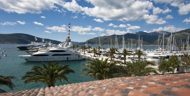Porto Montenegro nestled in the lovely Eastern Mediterranean yacht charter location - Montenegro