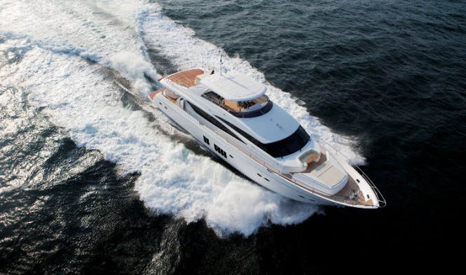 Princess 98 Yacht - view from above