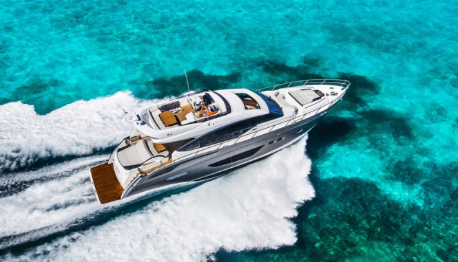 Princess S72 Yacht from above