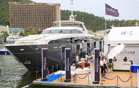 Princess Yachts at the 2014 China Rendez-Vous