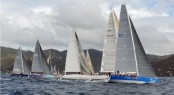 Racing fleet on the SOL Course on day 1 of the BVI Spring Regatta - Credit: Todd vanSickle/BVI Spring Regatta