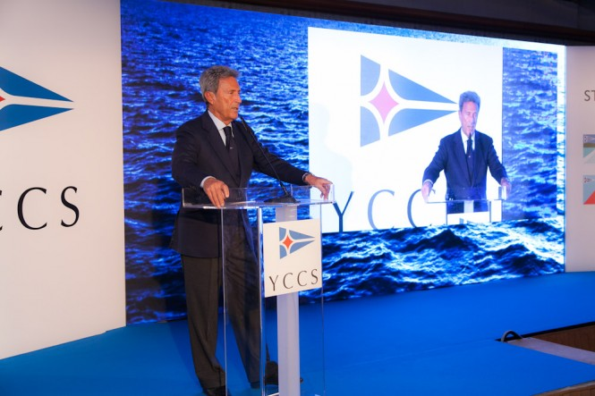 Riccardo Bonadeo, YCCS Commodore - YCCS Press Conference