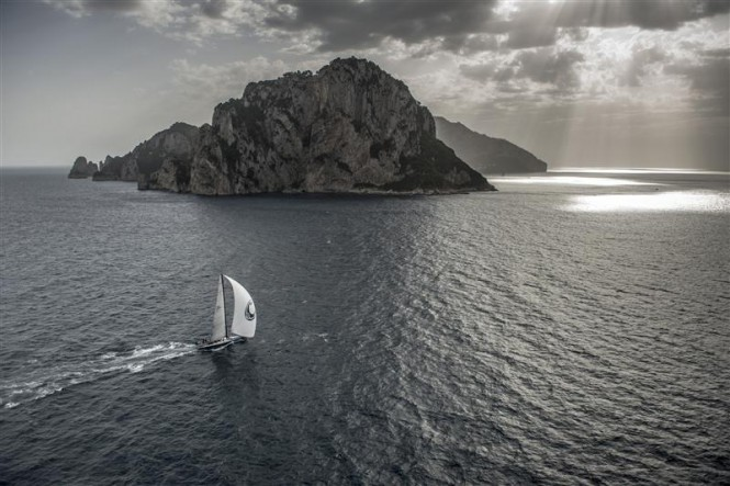 Sailing yacht Caol Ila R, Overall Winner of the Rolex Capri Sailing Week 2013 - Photo by Rolex Kurt Arrigo