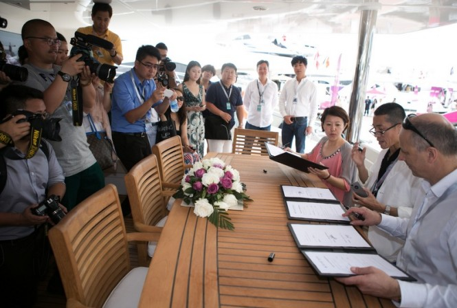Signing ceremony for luxury yacht Sunreef 60 LOFT