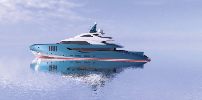 Squalo Bianco Yacht Concept - side view