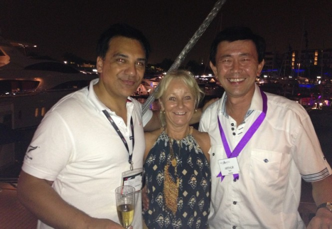 Steffan Panaho Auckland Tourism Events and Economic Development MaryAnne Edwards Superyacht Australia CEO and Arthur Tay Marine One 15