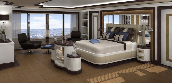 Superyacht FOREVER ONE - Owners Cabin