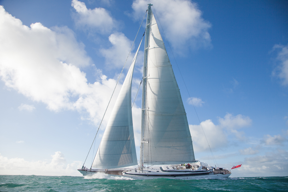 Superyacht M5 Sail trials Pendennis Andrew Wright photography