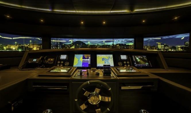 Superyacht ZAPHIRA - Wheelhouse - Image credit to Alberto de Abreu Sodre