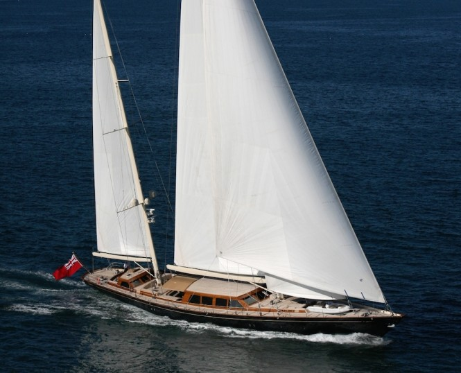 Luxury yacht THALIA 48.42mts Ketch is largest yacht at Palma sy Show