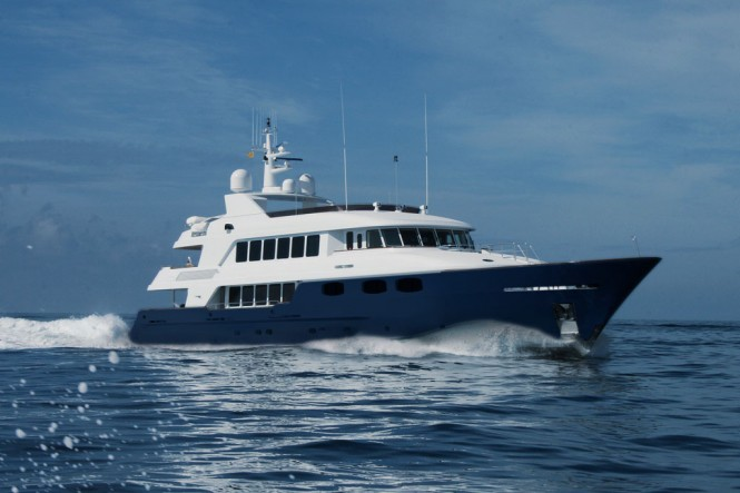 The 142-foot motor yacht Chevy Toy will be attending the 2014 Newport Charter Yacht Show