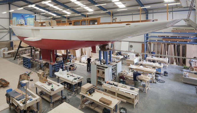 Third Truly Classic 90 Yacht under construction at Claasen