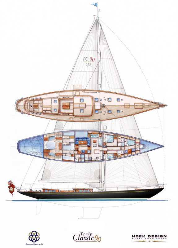 Truly Classic 90 superyacht Hull no. 3