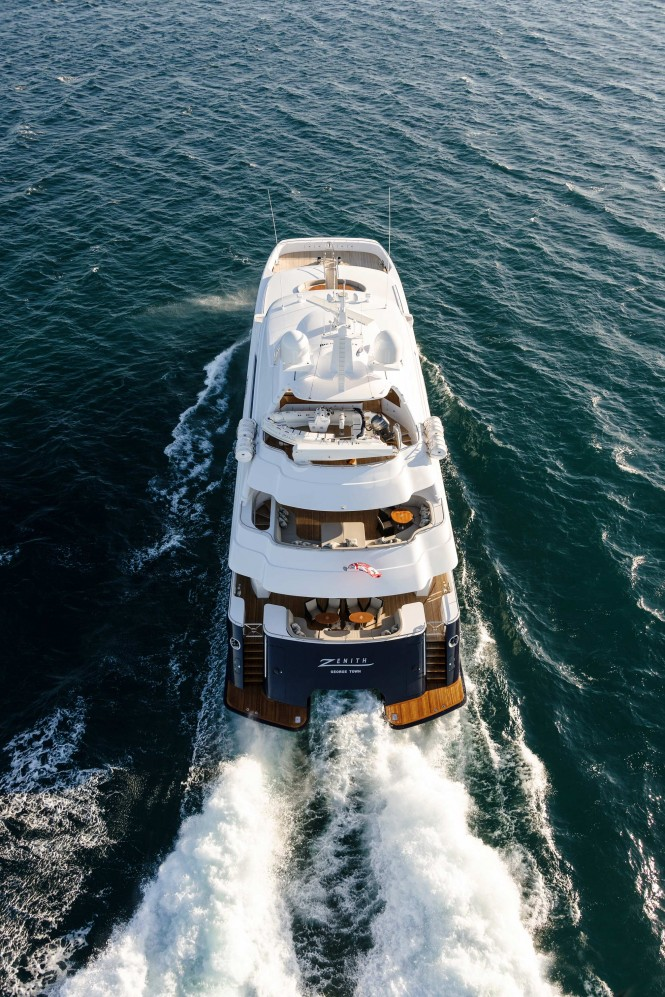 Zenith Yacht from above