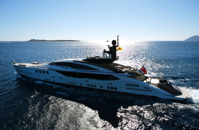 Luxury superyacht LADY M
