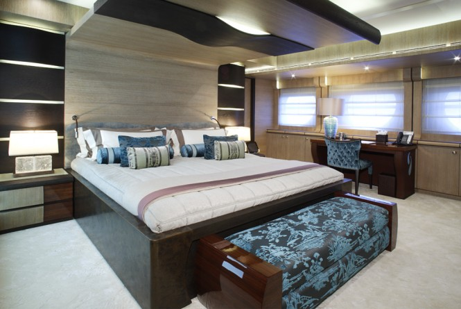 Super Yacht Lady M Master Cabin