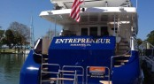 110ft Broward superyacht Entrepreneur on display at Suncoast Boat Show in Sarasota