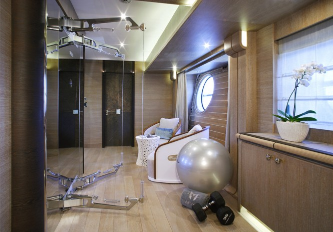 Nuvolari Lenard designed Lady M superyacht - Master Cabin
