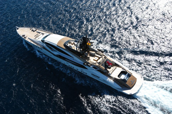 Motor Yacht LADY M by Palmer Johnson from above