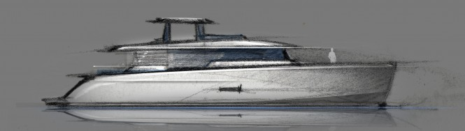 26m motor yacht 'Project 3126' by Francesco Struglia from A-Sign Studio
