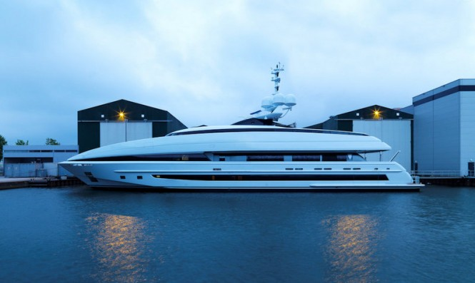 50m superyacht Crazy Me - Photo by Dick Holthuis
