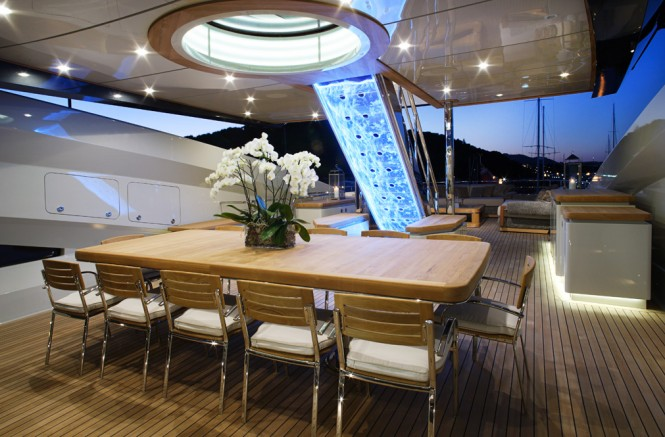 Lady M Yacht by Palmer Johnson - Bridge Deck