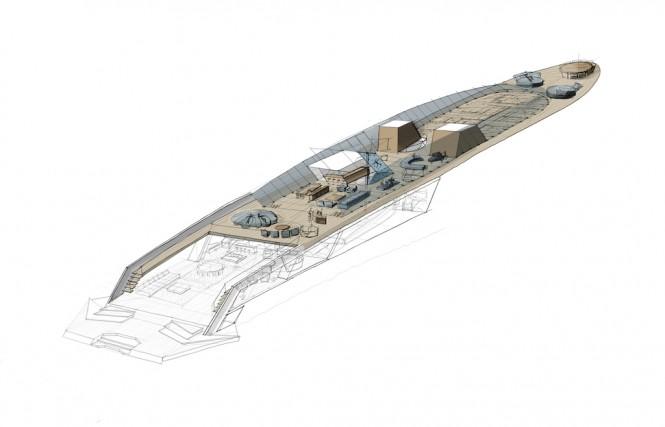 90m X-KID STUFF Yacht - MAIN DECK - Credits Pastrovich