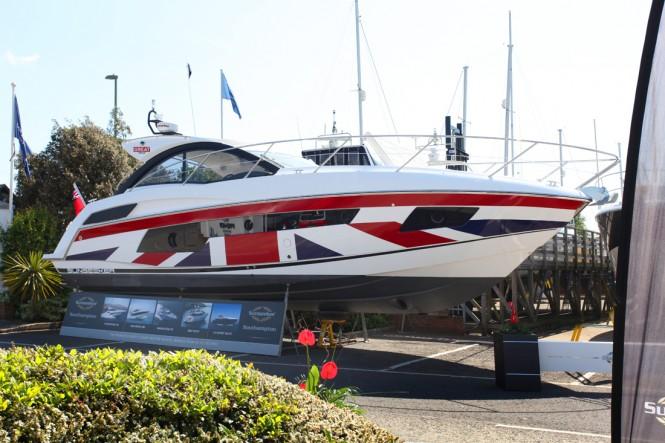 A special Union Jack Portofino 40 Yacht by Sunseeker