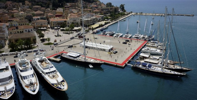 Aerial view of the 2014 Mediterranean Yacht Show