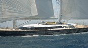 Alloy superyacht Mondango 3 under sail