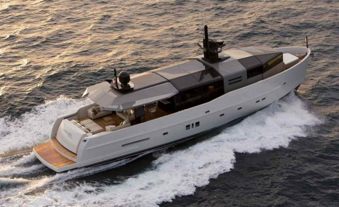 Arcadia 85 Yacht underway