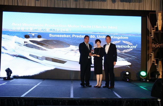 Asia Boating Award 2014 for Sunseeker superyacht Predator 80